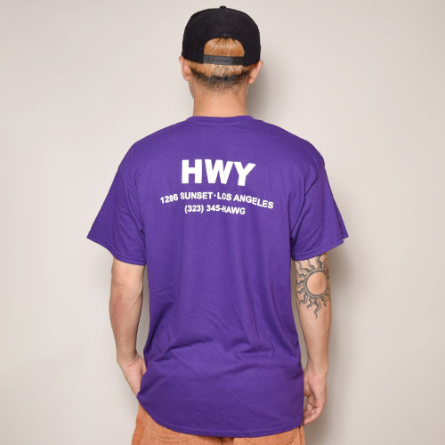 HWY×US/S/S Army T-Shirt(エイチダブリューワイ×アス Tシャツ)パープル [a-3154]