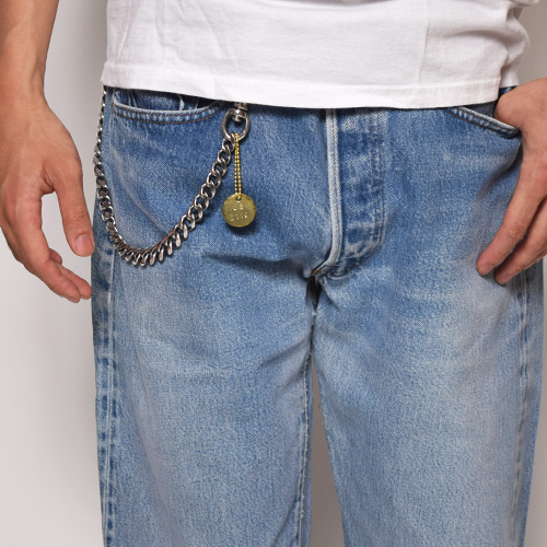 "US Exclusive/""Simple & Plain"" Heavy Gauge Wallet Chain/Long(アス ヘビーゲージウォレットチェーン)シルバー [n-9053]"
