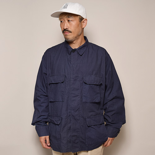 US Military/4Pocket BDU Shirt Jacket/Deadstock(USミリタリー BDUジャケット)ネイビー [a-3295]