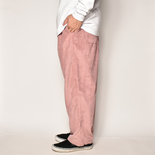Wide Wale Corduroy Loose Easy Pants(コーデュロイルーズイージパンツ)ピンク [a-4074]