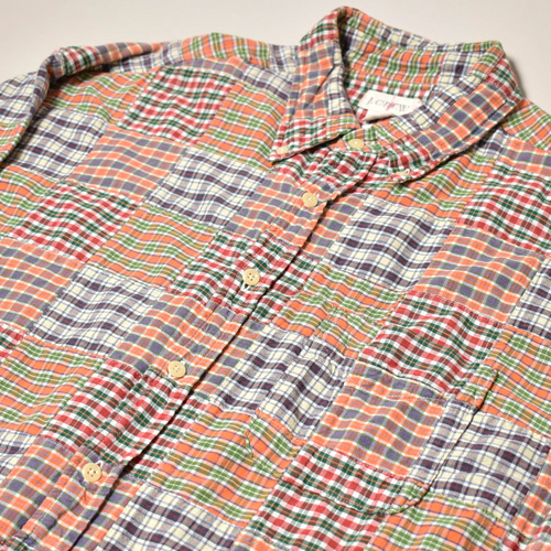 ・J.Crew/L/S Patchwork Shirt(ジェイクルー パッチワークシャツ)サイズL [z-3391]