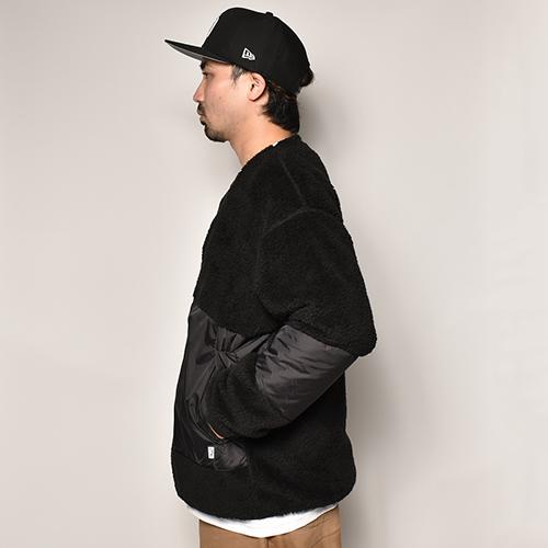 Comfy Outdoor Garment/Precold Fleece Cardigan(コンフィー リバーシブルフリース/ナイロンジャケット)ブラック [a-4041]