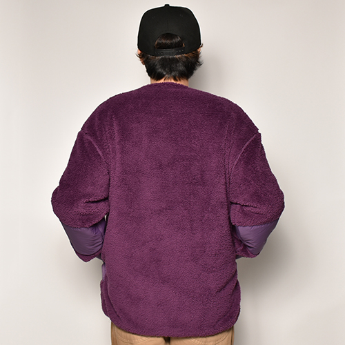 Comfy Outdoor Garment/Precold Fleece Cardigan(コンフィー リバーシブルフリース/ナイロンジャケット)パープル [a-4042]