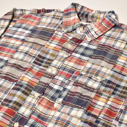 ・J.Crew/L/S Patchwork Shirt(ジェイクルー パッチワークシャツ)サイズM [z-3393]