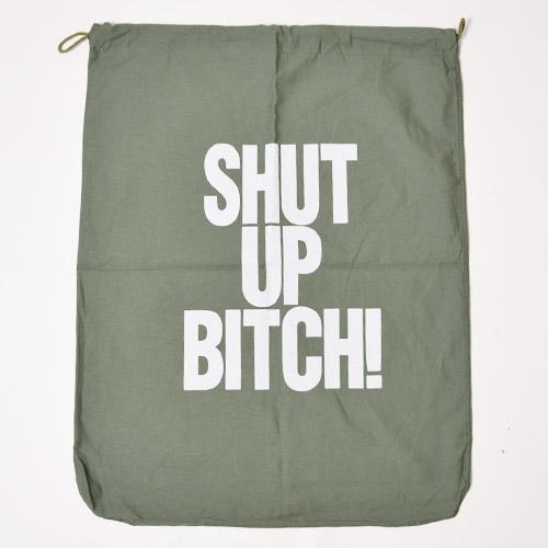 Shut Up Bitch! Barrack Bag(シャタップ・ビッチ バッグ)オリーブ×ホワイト [a-2407]