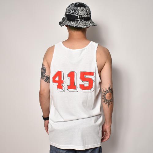 415 Clothing/Frisco 415 Tank Top(415クロージング タンクトップ)ホワイト [a-5208]