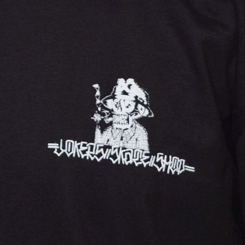 Joker's Skate Shop×US/L/S Block Logo T-Shirts(ジョーカーズスケートショップ×アス Tシャツ)ブラック [a-3027]