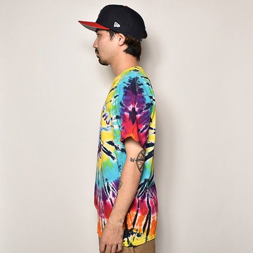 415 Clothing×US/Tie Dye Frisco Choppers T-shirt(415クロージング×アス Tシャツ)レインボータイダイ [a-3936]
