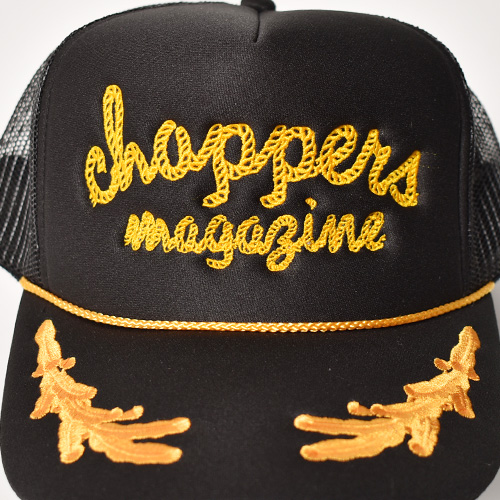 Choppers Magazine/Choppers Rodeo Trucker Hat(チョッパーズマガジン キャップ)ブラック [a-5212]