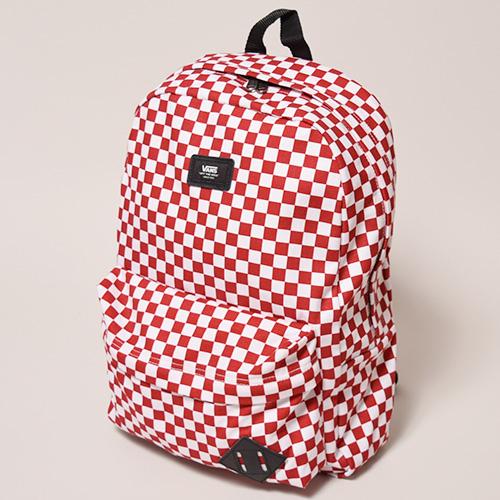 Vans/Old Skool 2 Backpack(バンズ バックパック)レッド×ホワイト [a-2651]