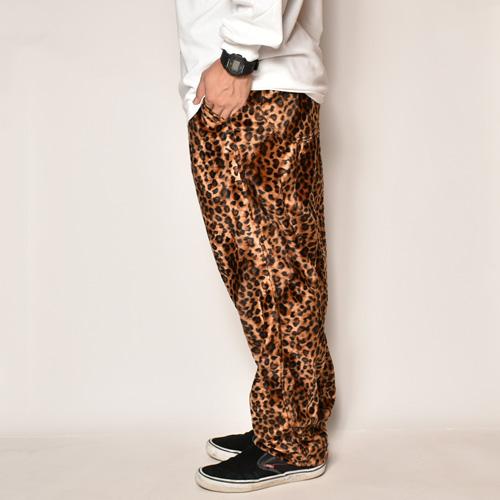 Fake Fur Leopard Easy Pants(フェイクファーレオパードイージーパンツ)ダークレオパード [a-4047]