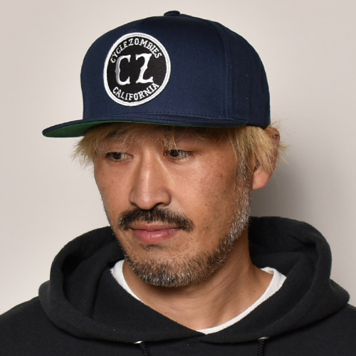 Cycle Zombies/California Snapback Cap(サイクルゾンビーズ キャップ)ネイビー [a-4152]