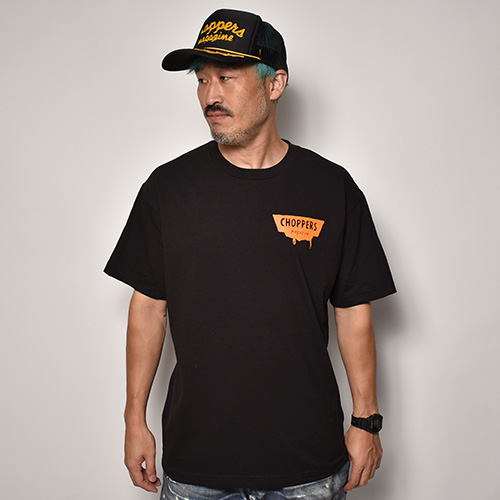Choppers Magazine×US/Chopper Mouse S/S T-Shirt(チョッパーズマガジン×アス Tシャツ)ブラック [a-5216]