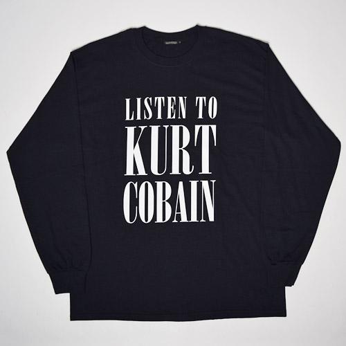 Sunny Sports/Listen to Kurt Cobain T-Shirts(サニースポーツ カートコバーンTシャツ)ブラック [a-1844]