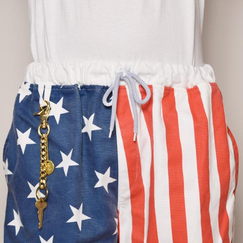 American Flag Easy Short Pants(アメリカンフラッグイージーショートパンツ)ブルー×レッド×ホワイト [a-3262]