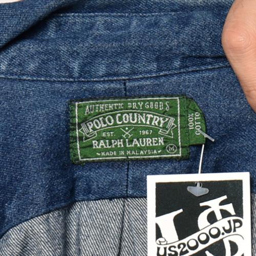 ・Polo Ralph Lauren/L/S Loose Fit Denim Shirt(ラルフローレン デニムシャツ)インディゴ/サイズM [z-4515]