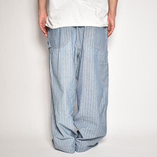 ・US Customized/All In One Herringbone Easy Pants(アスカスタマイズ ワークイージーパンツ)ネイビー×ホワイト/サイズW34-41 [z-5640]