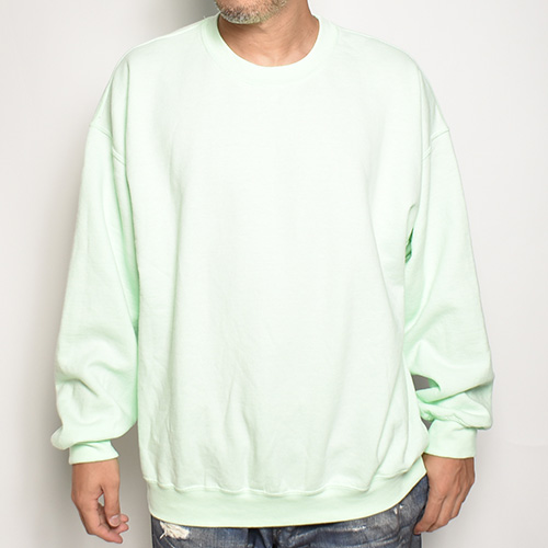 Towncraft/Vintage Washed Crew Neck Sweatshirt(タウンクラフト スウェットシャツ)ミントグリーン [a-5359]