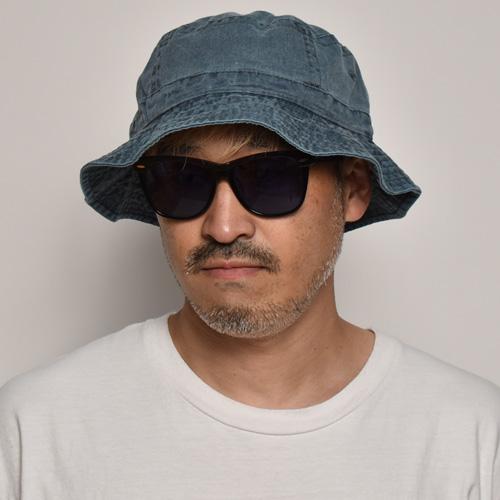 Adams Headwear/Washed Bucket Hat(アダムスヘッドウェア ハット)ネイビー [a-5219]