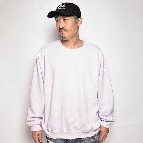 Towncraft/Vintage Washed Crew Neck Sweatshirt(タウンクラフト スウェットシャツ)ライトパープル [a-5360]