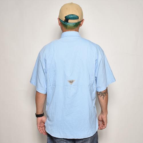 ・Columbia Sportswear/S/S PFG Fishing Shirt(コロンビア フィッシングシャツ)ライトブルー/サイズM [z-5546]