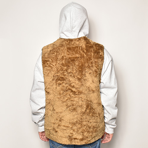 ・Barbour×US/Pile Boa Vest(バブアー×アス ボアベスト)ブラウン [z-2549]