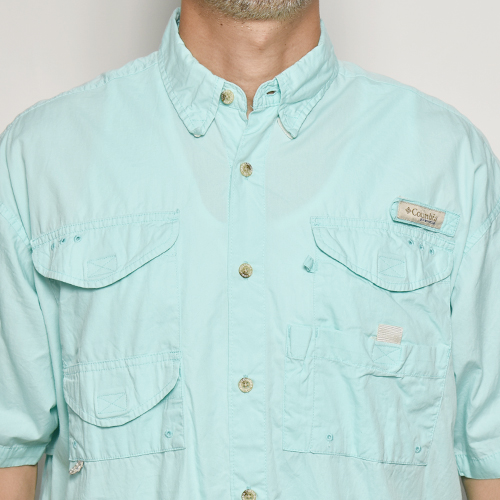 ・Columbia Sportswear/S/S PFG Fishing Shirt(コロンビア フィッシングシャツ)ミントグリーン/サイズM [z-5547]