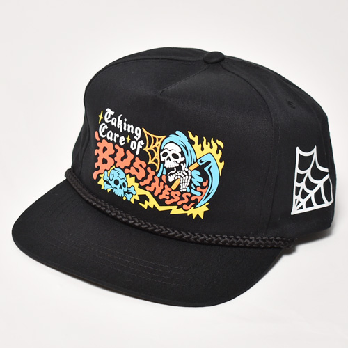 Taking Care Of Business/Snap Back Cap(テイキングケアオブビジネス キャップ)ブラック [a-5361]
