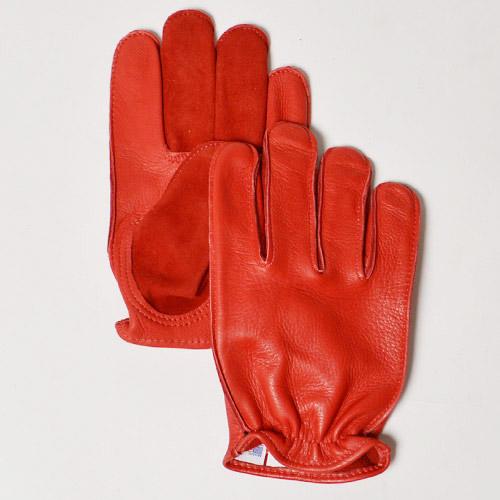 Churchill×US/Two-Tone Short Wrist Outseam Glove(チャーチル×アス ツートーンレザーグローブ)レッド [n-8989]