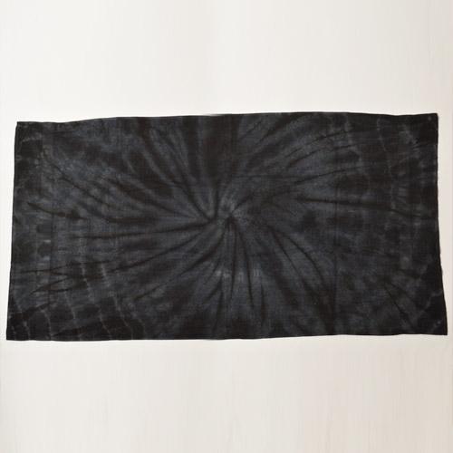 Tie Dye Beach Towel(タイダイビーチタオル)ブラック [n-9314]