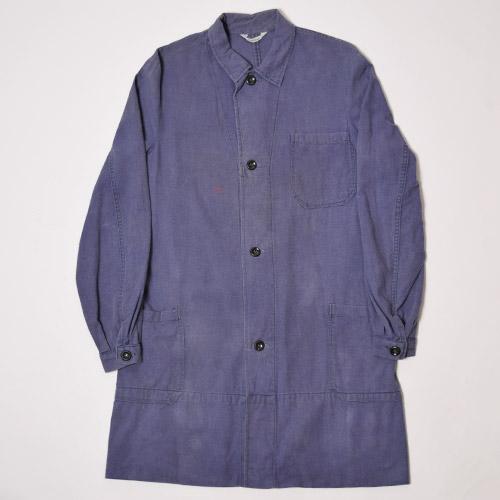 ・Vintage Europian Shop Coat(ヴィンテージ ショップコート)ブルー/サイズEU42 [u-8845]