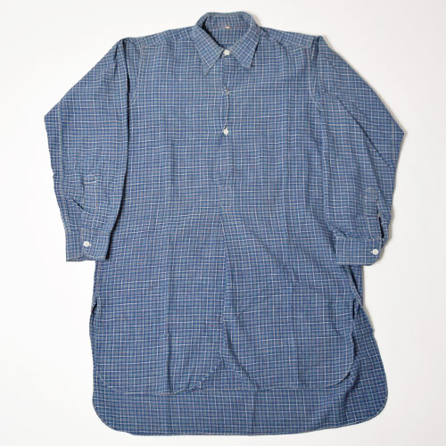 ・EU Long Length Shirt(ヨーロッパ ロングレングスシャツ)ブルー×グリーン×レッド/サイズ38 [u-9188]