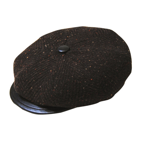 Capas Headwear/Tweed Casquette(キャパス ツイードキャスケット)ブラウン [n-4550]
