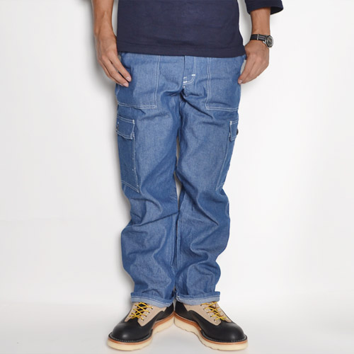 Smith's American×US/Heavy Chambray 6Pocket Pants(スミス×アス 6ポケットパンツ)ブルー [n-8465]