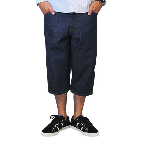 Dickies×US/Three Quarter Denim Pants(ディッキーズ 7分デニムパンツ)リジッド [n-4407]