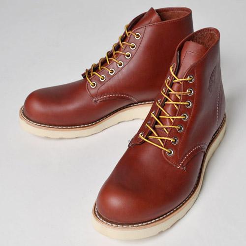 """Red Wing/6"""" Round Toe Boots(レッドウィング 6インチラウンドトゥブーツ)レッドブラウン [n-7695]"""