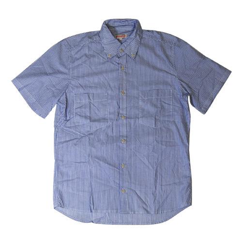 Organic by John Patrick/S/S Stripe Shirt/Blue Stripe [n-2815]