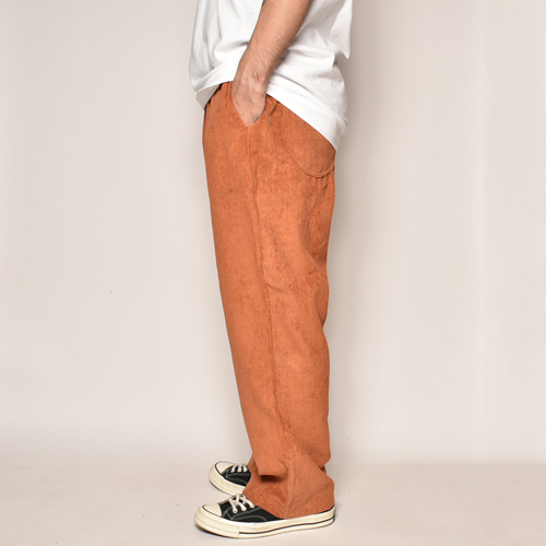 Wide Wale Corduroy Loose Easy Pants(コーデュロイルーズイージパンツ)レッドロック [a-3986]
