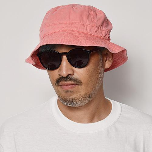 Adams Headwear/Washed Bucket Hat(アダムスヘッドウェア ハット)レッド [a-5222]