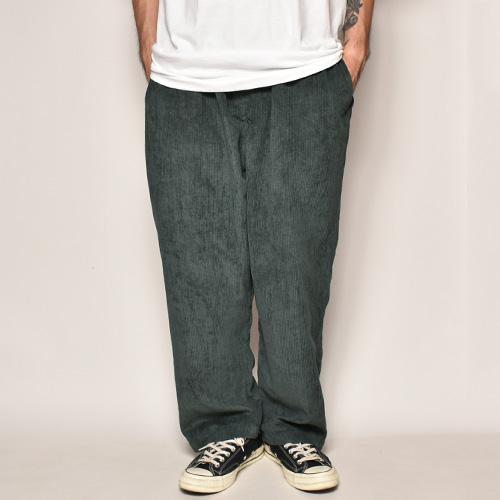 Wide Wale Corduroy Loose Easy Pants(コーデュロイルーズイージパンツ)ダークグリーン [a-3987]