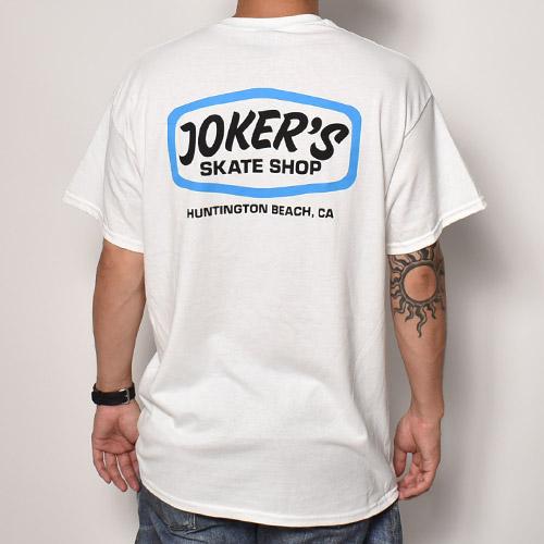 Joker's Skate Shop×US /Classic Logo S/S T-Shirt(ジョーカーズスケートショップ×アス Tシャツ)ホワイト [a-5223]