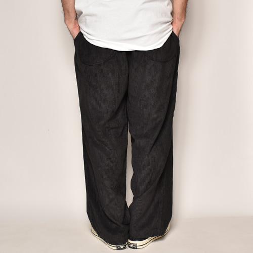 Wide Wale Corduroy Loose Easy Pants(コーデュロイルーズイージパンツ)ブラック [a-3988]