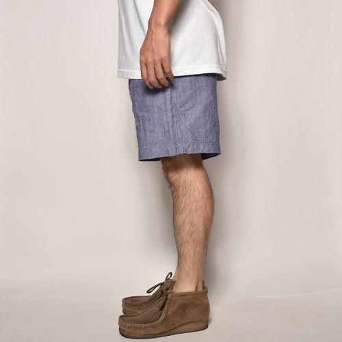 French Navy/50's Dead Stock Linen Shorts(フレンチネイビー リネンショーツ)ネイビーブルー [a-1032]