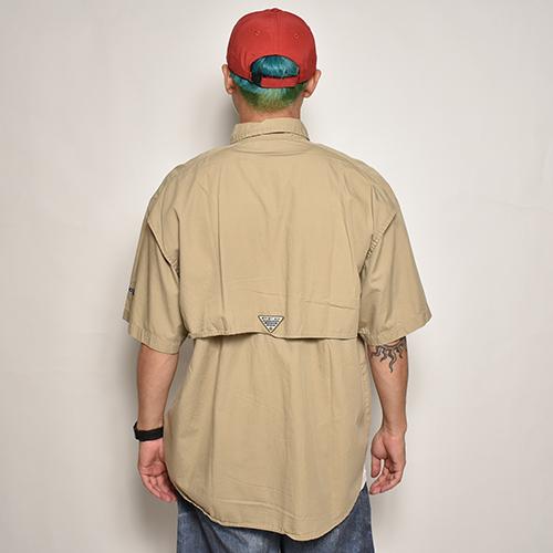 ・Columbia Sportswear/S/S PFG Fishing Shirt(コロンビア フィッシングシャツ)ベージュ/サイズM [z-5550]