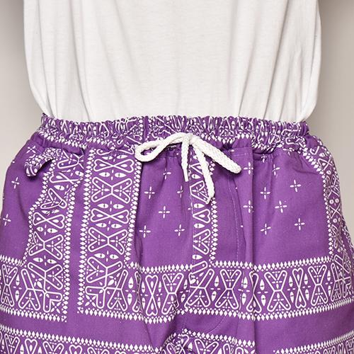 Cross Bandana Printed Easy Pants(クロスバンダナイージーパンツ)パープル [a-3989]
