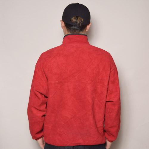 ・Patagonia/Snap T Synchilla Jacket(パタゴニア フリースジャケット)レッド×チャコール/サイズXL [z-1538]