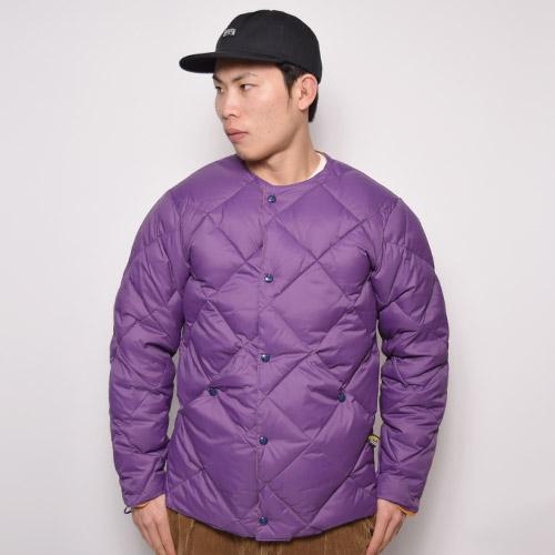 Comfy Outdoor Garment/Collarless Down Jacket(コンフィー ダウンジャケット)パープル [a-2037]