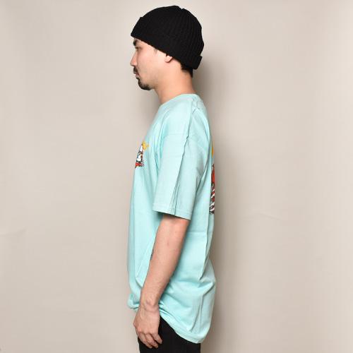 Powell Peralta/Ripper T-Shirt(パウエル Tシャツ)ティファニーブルー [a-3661]
