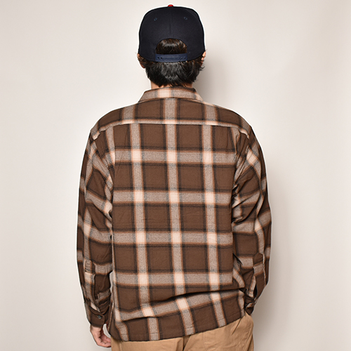 Penney's/L/S Ombre Check Cotton Shirt(ペニーズ オンブレチェックシャツ)ブラウンチェック [a-3993]