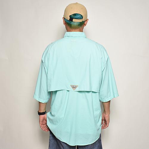 ・Columbia Sportswear/S/S PFG Fishing Shirt(コロンビア フィッシングシャツ)ライトブルー/サイズL [z-5555]